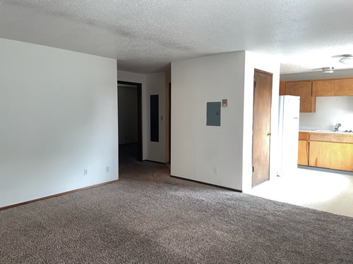 A two-bedroom at The Olympus Plus Apartments, 1200 Hillsided Circle in Pullman, Wa