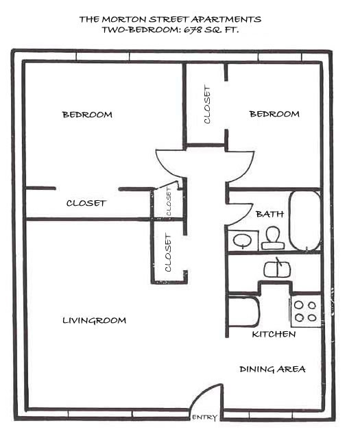 Simple Floor Plans For Houses Two Bedroom House Simple Plan