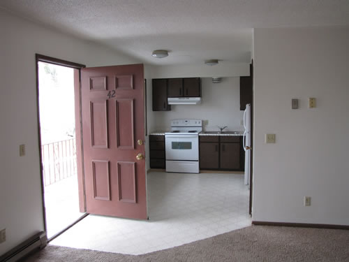 A two-bedroom apartment at The Valley View Apartments, 1325 Valley Road, apt. 42